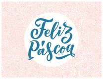 Calligraphy lettering for flyer design - Happy easter in Hispanic language. Vector illustration. Template banner, poster, greeting. Calligraphy lettering for stock photo