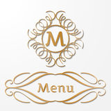 Calligraphy monogram, vintage pattern logo Royalty Free Stock Photo