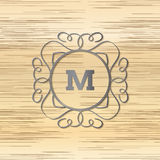 Calligraphy monogram, vintage pattern logo. EPS 10 Stock Photo
