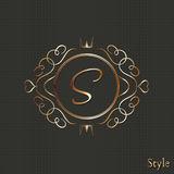 Calligraphy monogram, vintage pattern logo Royalty Free Stock Photography