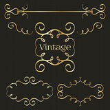 Calligraphy monogram, vintage pattern logo. EPS 10 Stock Photography
