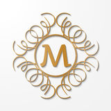 Calligraphy monogram, vintage pattern logo Stock Photo