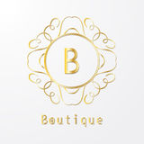 Calligraphy monogram, vintage pattern logo. EPS 10 Royalty Free Stock Photos