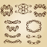 Calligraphy ornament frame set Royalty Free Stock Photos