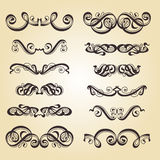 Calligraphy ornament set Stock Image