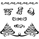 Calligraphy ornament set Royalty Free Stock Image