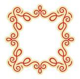 Calligraphy ornamental decorative frame Stock Photo