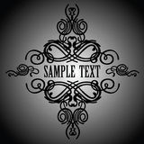 Calligraphy Ornate Vintage Banner Stock Photos