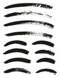 Calligraphy Paint Brush Curved Lines High Detail Abstract Vector Background Set 69. This image is a vector illustration and can be scaled to any size without vector illustration