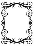 Calligraphy penmanship curly baroque frame black Royalty Free Stock Images
