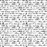 Calligraphy. Seamless pattern with handwriting text Royalty Free Stock Photo