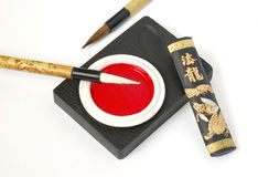 Calligraphy Set Stock Photography