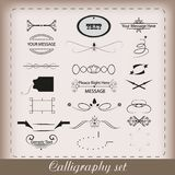 Calligraphy set Stock Image