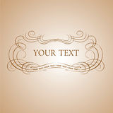 Calligraphy Text Banner. Vector Illustration Stock Photography