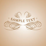 Calligraphy Text Banner. Royalty Free Stock Photo