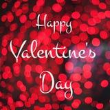 Calligraphy text Happy Valentine`s Day Stock Image