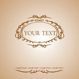 Calligraphy Text Ornate Quad Banner. Royalty Free Stock Images