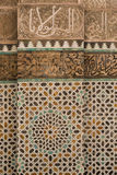 Calligraphy and tile panel Stock Images