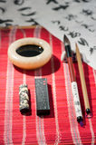 Calligraphy tools on the table Stock Photos