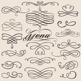 Calligraphy vintage elements Stock Images