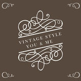 Calligraphy vintage elements Stock Image