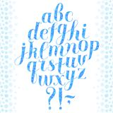 Calligraphy winter  font Royalty Free Stock Photos