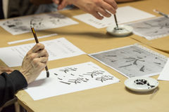 Calligraphy workshop Stock Photos