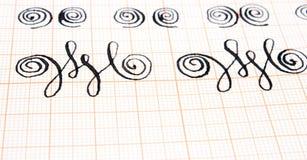 calligraphyarbete Royaltyfri Bild