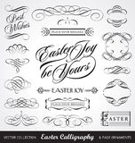 calligraphyeaster set vektor royaltyfri illustrationer