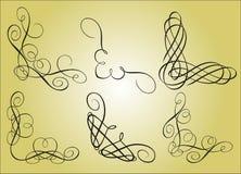 calligraphyelementram vektor illustrationer