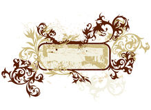 calligraphyen blommar karaktärsteckning Royaltyfria Foton