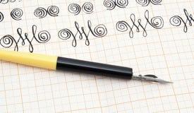 calligraphypennarbete Royaltyfria Bilder