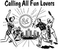 Calling All Fun Lovers Stock Images