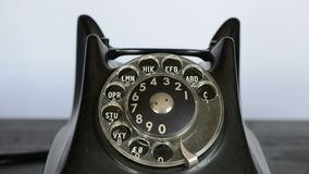 Calling with antique  phone stock footage