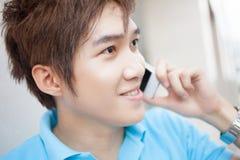 Calling boy Stock Photo