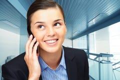 Calling brunette Stock Image