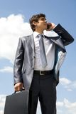 Calling businessman Stock Image