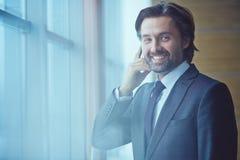 Calling businessman Stock Image