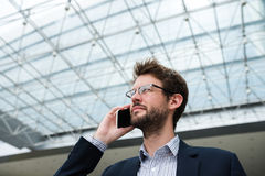 Calling businessman Royalty Free Stock Image