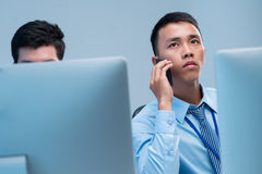 Calling businessman Stock Photos