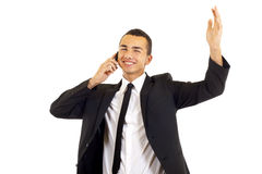 Calling with cellphone Royalty Free Stock Photography