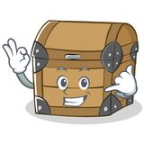 Calling chest character cartoon style Royalty Free Stock Photo