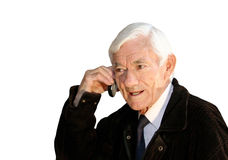 Calling grand father Stock Photo