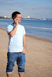 Calling home Stock Image