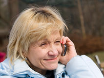 Calling lady Stock Photo