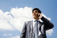 Calling man Royalty Free Stock Photo