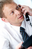 Calling man Stock Images