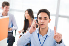 Calling man Royalty Free Stock Photography