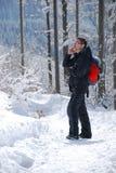 Calling mountaineer Royalty Free Stock Photos