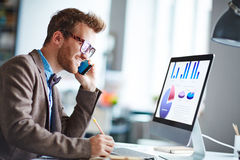 Calling and networking Stock Image